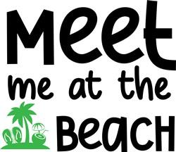 Meet Me At The Beach print art