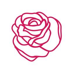 Summer Rose Outline print art