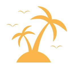 Palm Trees Silhouette print art