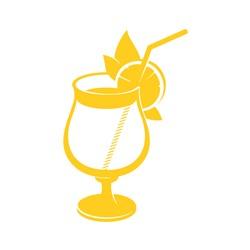 Tropical Drink Outline print art