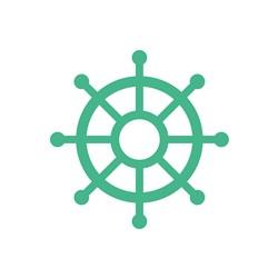 Ships Wheel print art