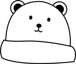 Bear Stocking Cap print art