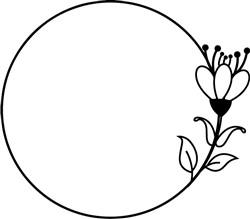 Delicate Floral Wreath print art