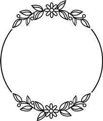Wreath With Daisies print art