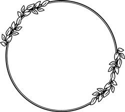 Decorated Leafy Wreath print art