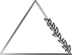 Plant Leaves Triangle Frame print art