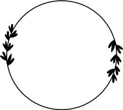 Circular Frame With Leaves print art