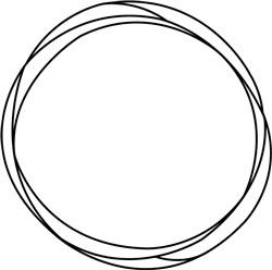 Sketched Circular Frame print art