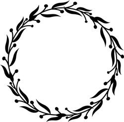 Decorative Leafy Wreath print art