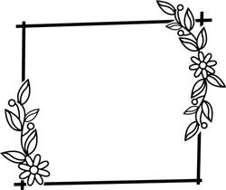 Square Floral Frame print art