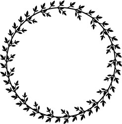 Tiny Leaves Circle Frame print art