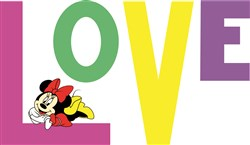 Love Minnie Mouse print art