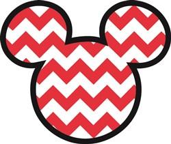 Mickey Mouse Chevron print art