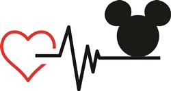 Love Mickey Mouse print art