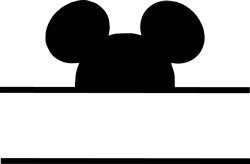 Mickey Mouse Namedrop print art