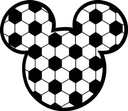 Mickey Mouse Soccer print art