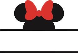 Minnie Mouse Namedrop print art