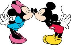 Micky & Minnie mouse kisses print art