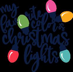 Favorite Color Is Christmas Lights print art