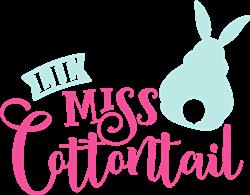 Lil Miss Cottontail print art