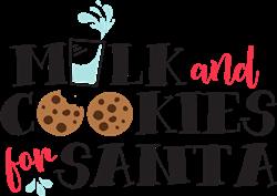 Santas Milk & Cookies print art