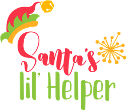 Santas Lil Helper print art