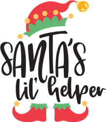 Santas Lil Elf Helper print art