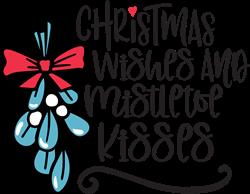 Wishes & Mistletoe Kisses print art