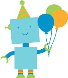 Birthday Robot print art