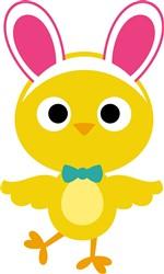 Kawaii Easter Chick print art