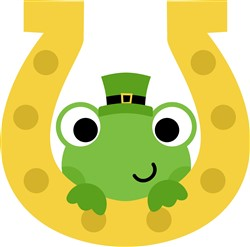 Lucky St. Patrick's Day Frog print art