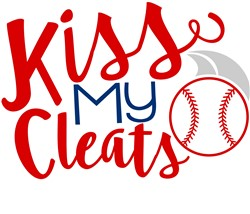 Kiss My Cleats print art