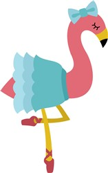 Flamingo Ballerina print art