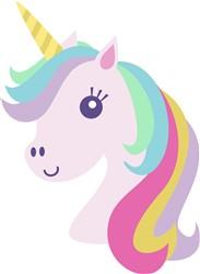 Kawaii Unicorn Head print art
