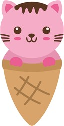Kawaii Kitty Cone print art