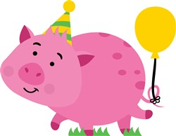 Birthday Party Pig print art