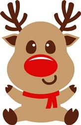 Kawaii Christmas Reindeer print art