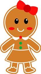 Kawaii Gingerbread Girl print art