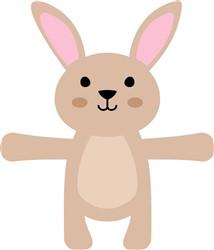 Kawaii Bunny Hug print art