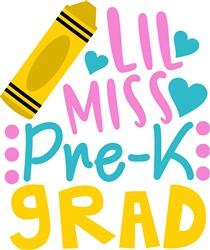 Lil Miss Pre-K Grad print art