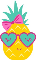 Kawaii Pineapple print art