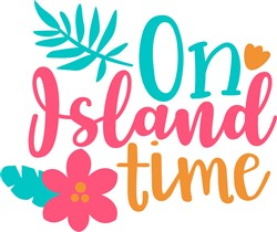On Island Time print art