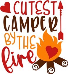 Cutest Camper By The Fire print art