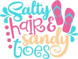 Salty Hair & Sandy Toes print art