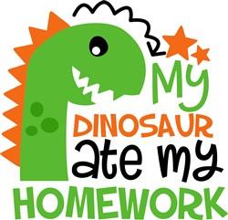 Dinosaur Ate My Homework print art