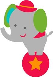 Circus Elephant print art