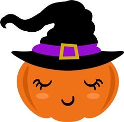 Kawaii Pumpkin Witch print art