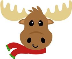 Kawaii Christmas Moose print art