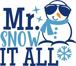 Mr. Snow It All print art