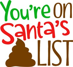 On Santa's List print art